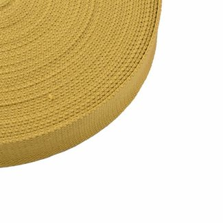 Tassenband Mosterdgeel 25mm