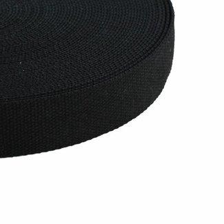 Tassenband Zwart 38mm