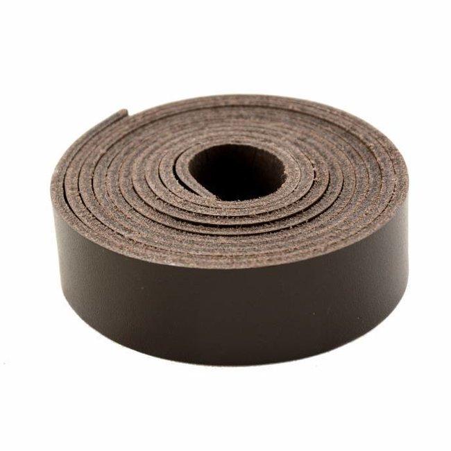K-Bas Leather strap Dark brown 24mm