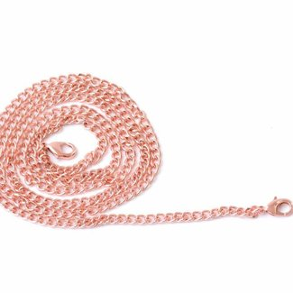 Zipper zoo Chain round links incl. snap hooks Rose gold
