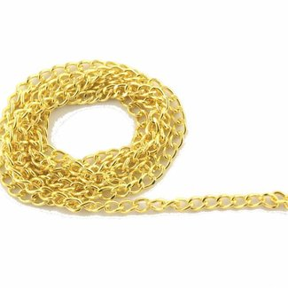 K-Bas Chain round links Warm gold