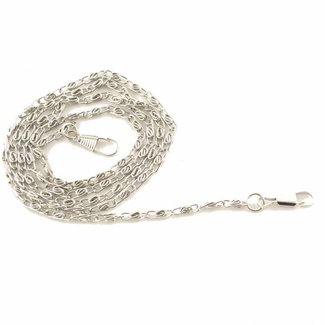 K-Bas Fine chain incl. snap hooks Nickel