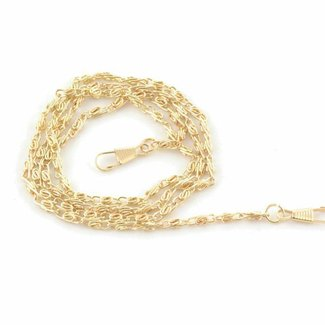 K-Bas Fine chain incl. snap hooks Warm gold