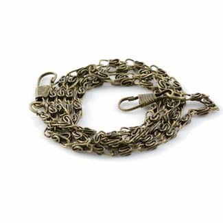 K-Bas Fine chain incl. snap hooks Anti-brass