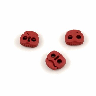 Zipper zoo Cord lock 2 holes large Red