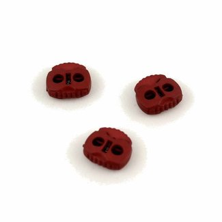 K-Bas Cord lock 2 holes large Cherry red