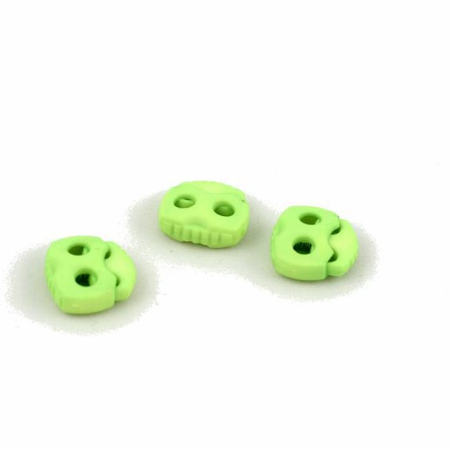 K-Bas Cord lock 2 holes large Fluo Yellow