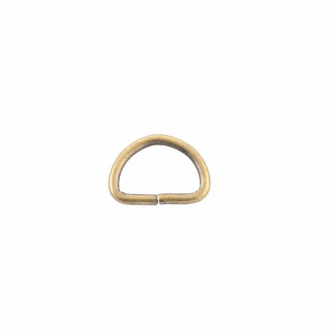 D-ring Anti-brass 15mm, fine wire