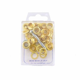 MMJZ Grommets Gold 8mm Pre-packed