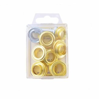MMJZ Grommets Gold 14mm Pre-packed