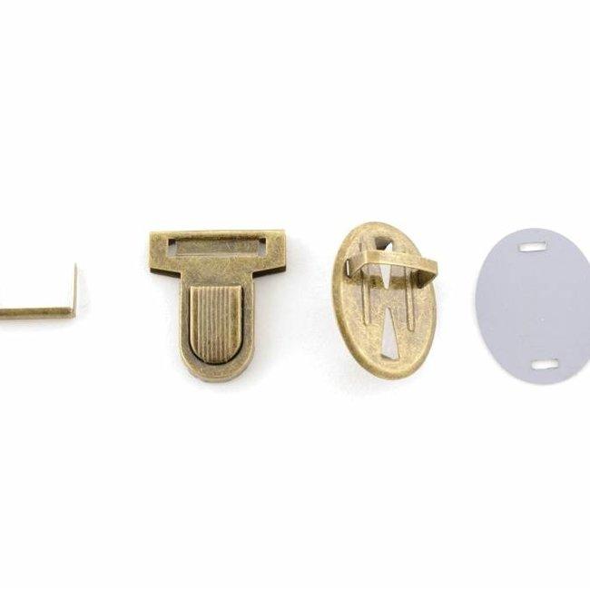 Tuck lock with rib Anti-brass medium