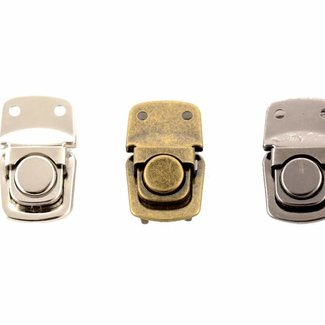 Tuck lock with rounded presser Anti-brass