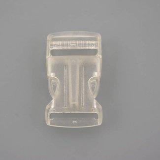 Kunststof klikgesp Transparant 25mm