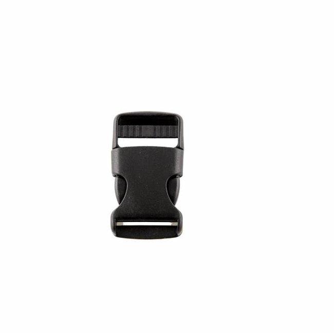 Kunststof klikgesp Zwart 25mm