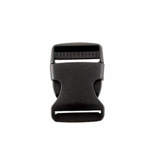 Zwarte klikgesp 40mm