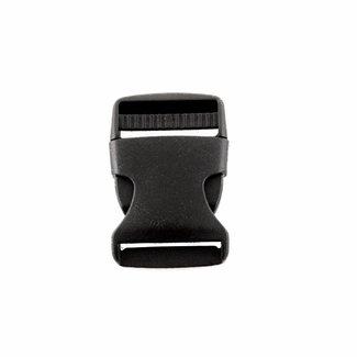Zwarte klikgesp 50mm