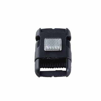Black side release buckle 40mm with reflector