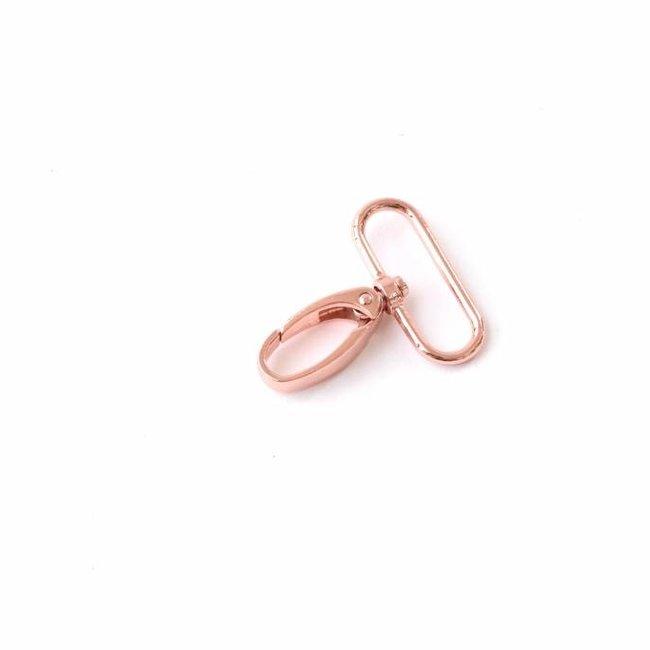 K-Bas Musketon met drukveer Rosé goud 38mm