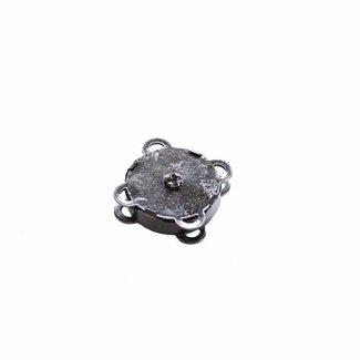 Magneetsluiting Innaaibaar Zwart Nikkel 18mm