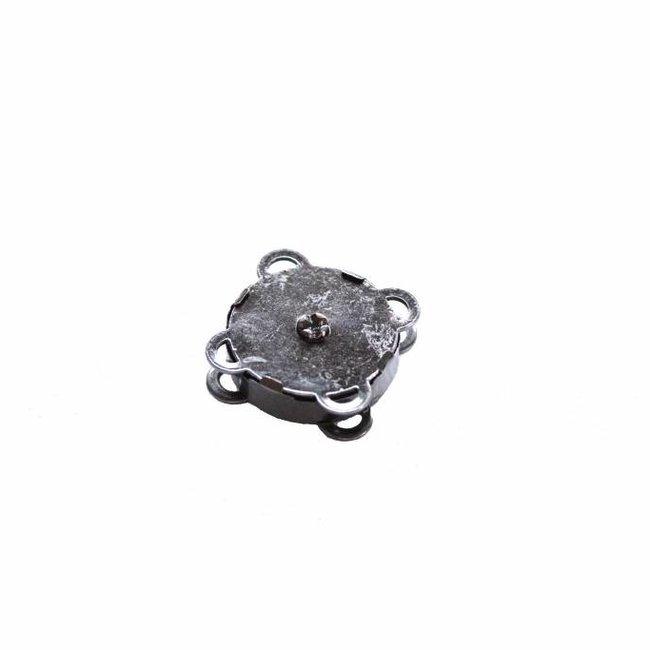 Magnetic snap Sew-in Black nickel 18mm