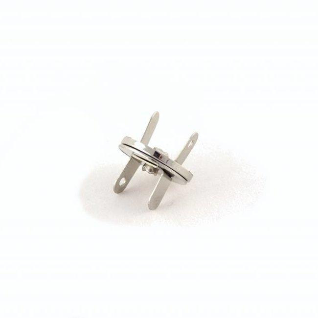 K-Bas Magneetsluiting Dun Nikkel 18mm