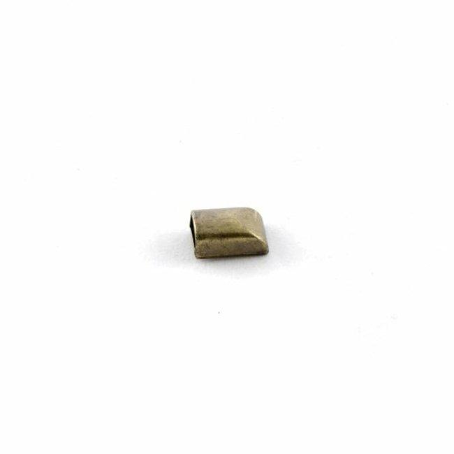 Ritsklem voor rits van 6mm Brons