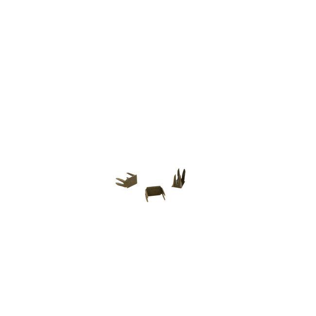 Zipper zoo Ritsstop voor rits van 6mm Brons