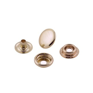 K-Bas Snap fasteners Light Gold 15mm