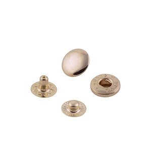 K-Bas Snap fasteners Light Gold 12mm