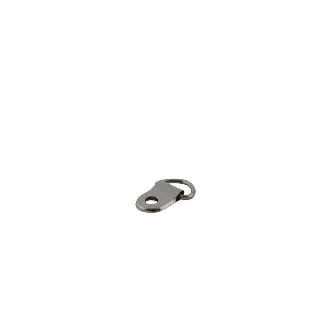 K-Bas D-ring met holniet-bevestiging Zwart nikkel 10mm