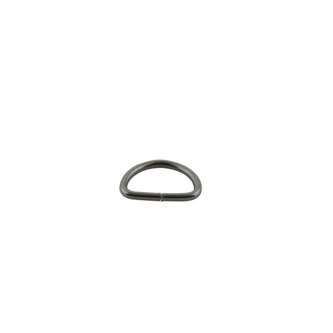 K-Bas D-ring Black nickel 12mm, fine wire