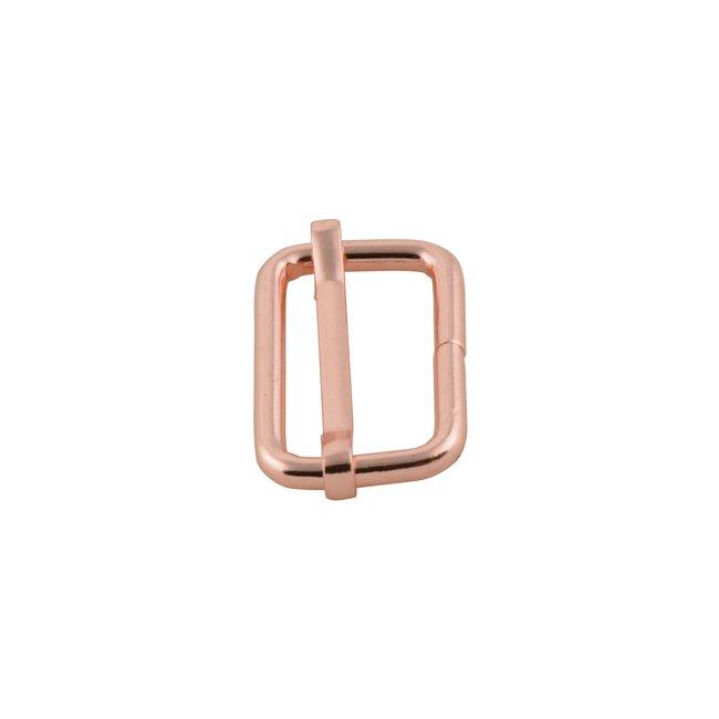 K-Bas Schuifgesp Rosé goud 25mm