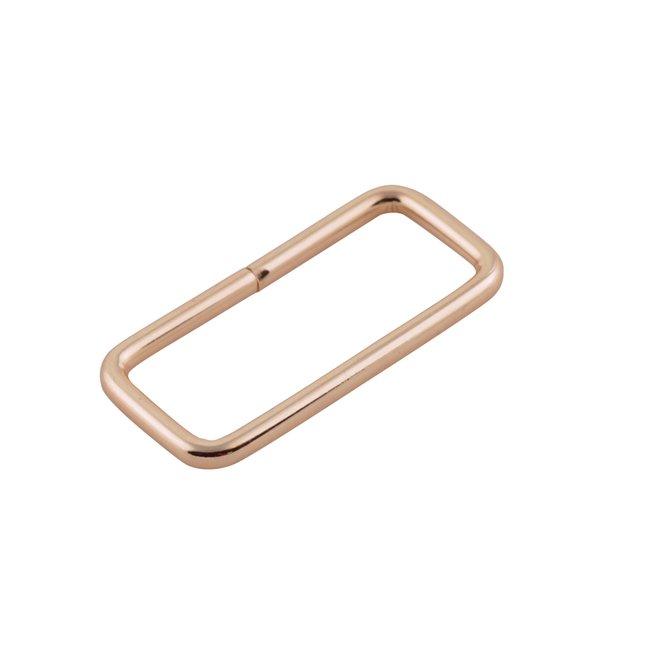 K-Bas Rectangular ring Light gold 38mm