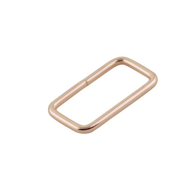 K-Bas Rectangular ring Light gold 32mm
