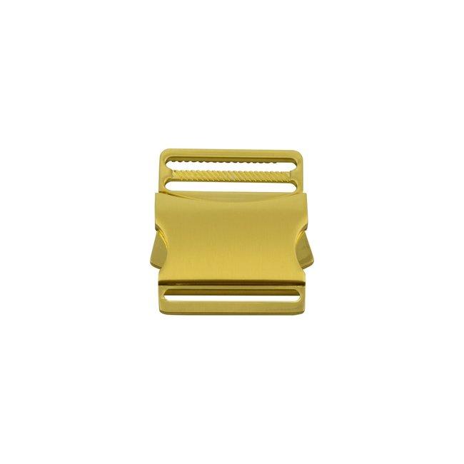 Side release buckle Gold 40mm