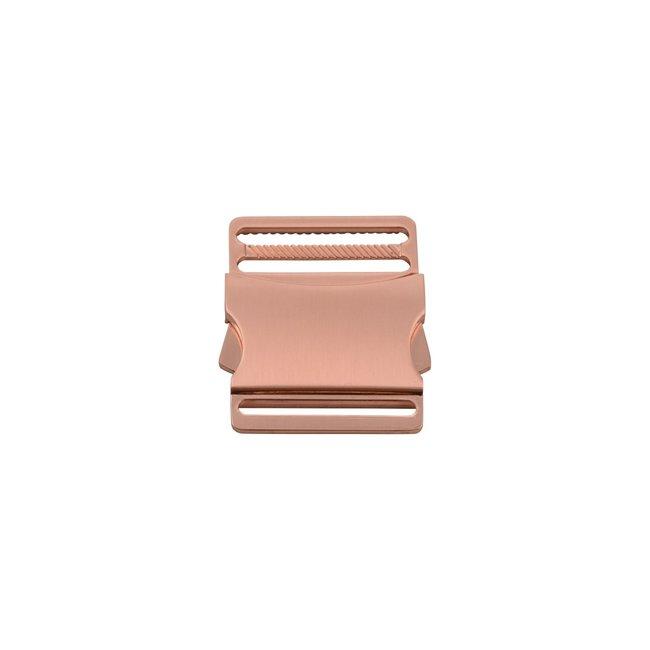 Metalen klikgesp Chic Rosé goud 40mm