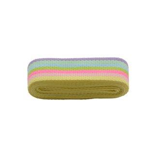 Rico Design Tassenband Gestreept Fluo 40mm