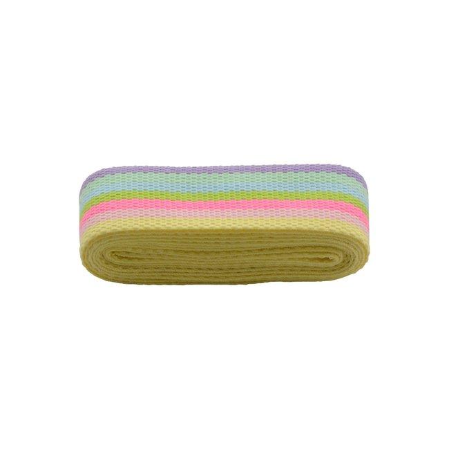 Rico Design Webbing strap Stripes Fluo 40mm