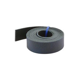 K-Bas Leren riem Donkerblauw 24mm