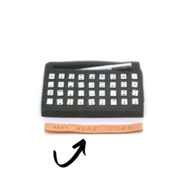 Stamp set for leather Alphabet large