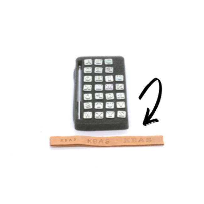Stempelset voor leer Alfabet blokletters