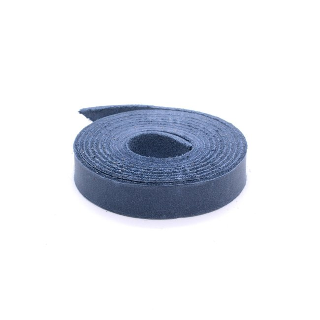 K-Bas Nerfleren riem Jeansblauw 15mm