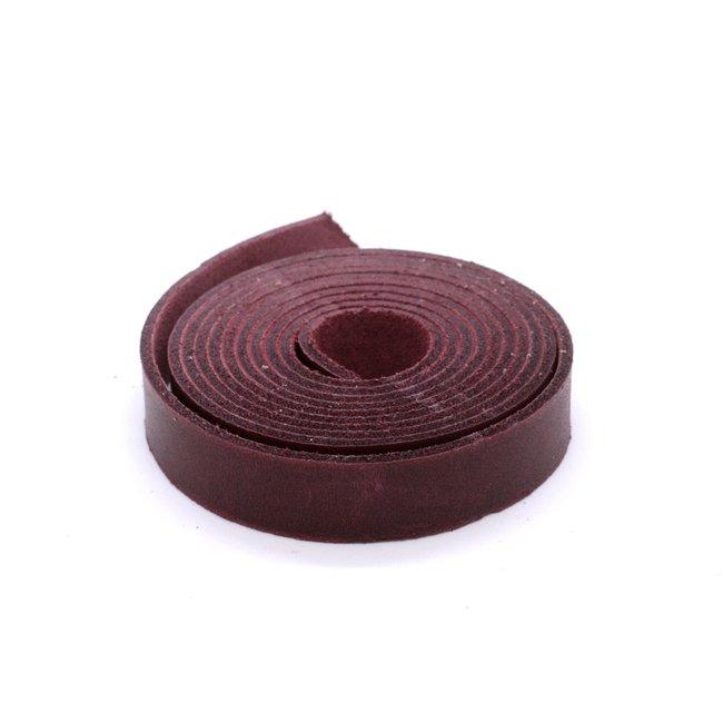 K-Bas Nerfleren riem Kersenrood 15mm