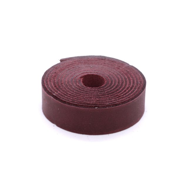 K-Bas Smooth leather strap Cherry red 19mm