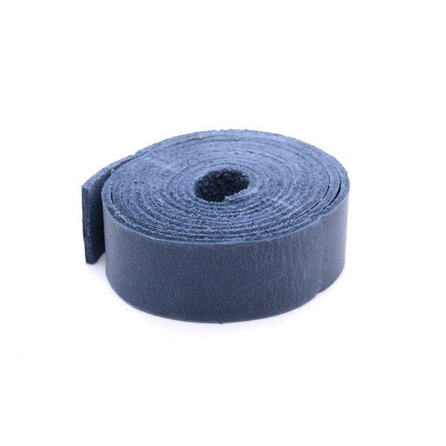 K-Bas Nerfleren riem Jeansblauw 24mm