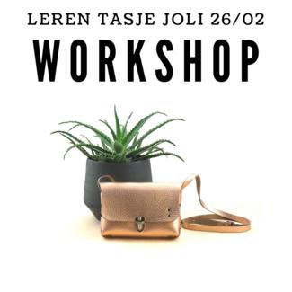 K-Bas Workshop Leren tasje Joli 26/02/2020
