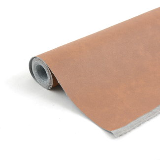 Zipper zoo Artificial leather with grain Cognac