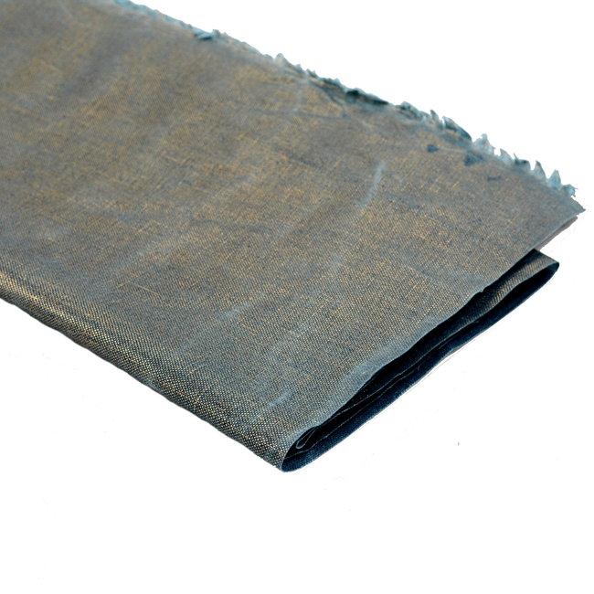 A. L. Frances Textiles Handwaxed metallic linnen  Golden teal