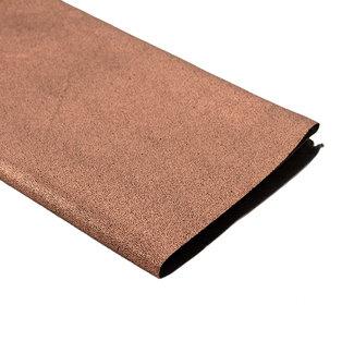 A. L. Frances Textiles Handwaxed metallic linnen Donker koper