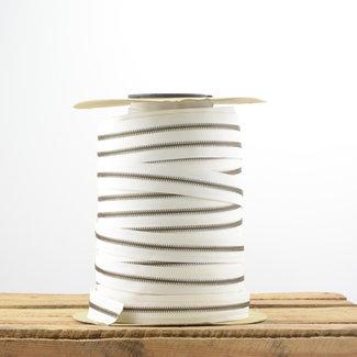 YKK Zipper tape Metal Off white - Anti-brass